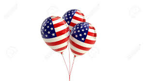 Design Of American Flag Shiny Patriotic Us Balloons With American Flag Design 4th July