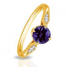 amethyst gold rings images Sleek amethyst gold ring jpeg