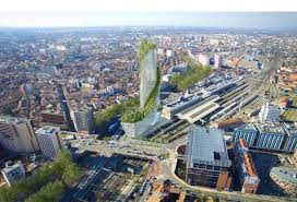 daniel libeskind unveils twisted tree covered skyscraper for