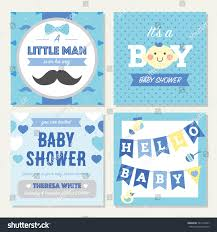 baby shower boy invitation template stock vector 541563337