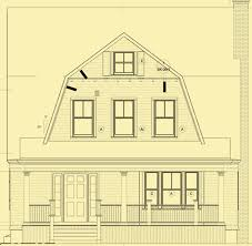 gambrel house plans 2 bedroom house plans for a simple home with a gambrel roof