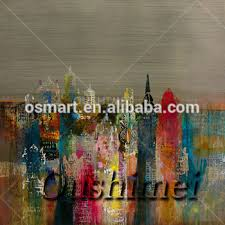 famous painters paintings bright color modern city oil paintings