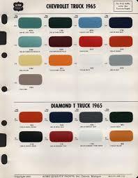 1965 66 paint code key the 1947 present chevrolet u0026 gmc truck