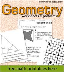 geometry worksheets u0026 problems high math worksheets and