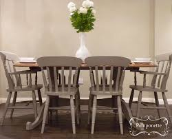 Dining Table And Six Chairs Oval Dining Table Chairs By Pomponette Painted Furniture