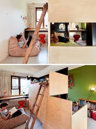 Split Bunk Beds This Custom Bunk Bed Splits The Room In Two To Give Each Child