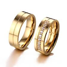 wedding rings classic images Shuangr classic design wedding rings for women men gold color jpg