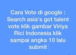 fb vote now asia got talent viriya rici viriyarici rici twitter