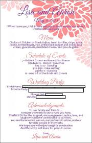 reception program template program menu with template available weddingbee photo gallery