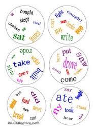 dobble irregular verbs a game anglais cours pinterest