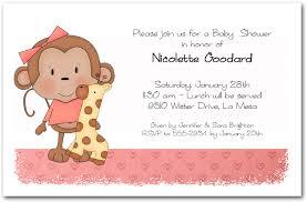 baby shower monkey girl baby monkey baby shower invitations