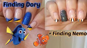 finding dory easy nail art finding nemo movie nail art youtube