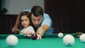 How To Play Pool Table Young Couple Playing Pool 2x Slow Motion Stock Footage