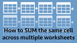 how to sum the same cell across multiple worksheets excel off