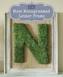 moss covered letters of family home diy moss covered monogram tutorial
