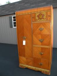 Armoires Wardrobe Antique Art Deco Waterfall Armoire Wardrobe Closet 375 Look