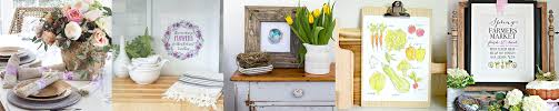 spring printables and spring home decor ideas