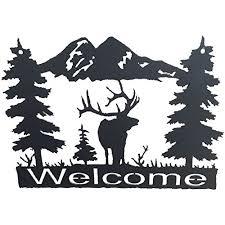 wildlife home decor amazon com original metal art wildlife welcome signs western