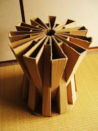 cardboard stool cardboard boxes reuse and creativity