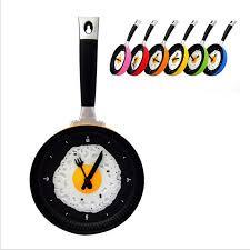 horloges cuisine haute qualité horloge murale en métal conception de poêle à frire