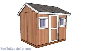 8x10 shed plans howtospecialist how to build step by step diy