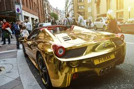 ferrari gold wallpaper chrome gold ferrari 458 spider newsnish
