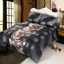 King Size Duvet Bedding Sets 4pcs 3d Printed Bedding Set Bedclothes Black Tiger King Size