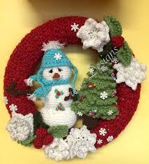 teri s new winter wreath crochet pattern