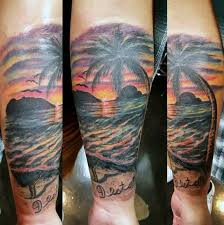 tropical sunset tattoos for men pictures to pin on pinterest