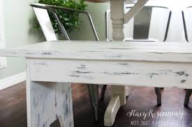 white table with bench white distressed bench that started out a big fat fail stacy