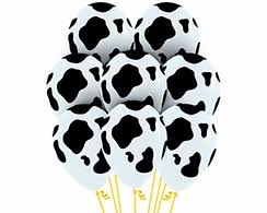 cow print balloons printed 12 inch oval shaped balloons world online