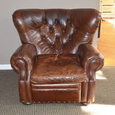 Restoration Hardware Recliner Wingback Leather Recliner From Restoration Hardware Ebth