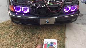 eye bmw headlights how to install multi color halo rings led rgb bmw 5