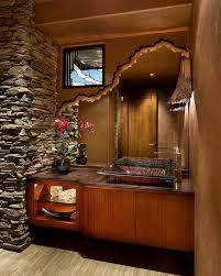 bathroom mirror ideas powder room contemporary with faux finish