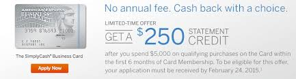American Express Business Card Application American Express Business Simplycash Bonus Now 250 After 5 000