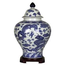 Vase Uk Blue And White Large
