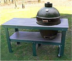 Green Egg Table by Poly Wood Grill Table Big Green Egg Martin Sales And Service