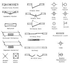 architectural electrical symbols for floor plans architecture drawing symbols interior design