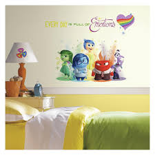 Disney Bedroom Wall Stickers Roommates Rmk2999tb Inside Out Burst Peel And Stick Giant Wall