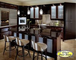 dark kitchen cabinets with glass doors exitallergy com