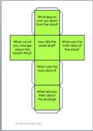 printable question dice reading comprehension story cube slp story grammar elements
