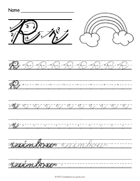 free printable cursive r worksheet cursive writing worksheets