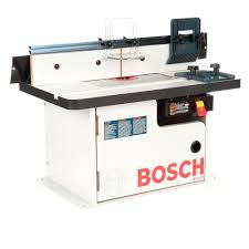 table bosch benchtop laminated router cabinet style table with 2 dust