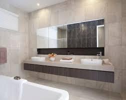 Recessed Bathroom Vanity by Recessed Mirror Cabinet With Tiled Shelf Underneath Ensuite