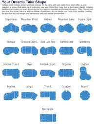 shapes of pools pool design options by parker pools