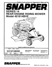owners manual for kohler 27 hp engine snapper lawn mower 421614bve user guide manualsonline com