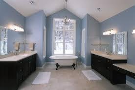 luxurious dark blue bathroom in home decoration ideas designing