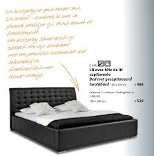 meubles belot chambre meubles belot promotion bed met gecaptioneerd hoofdbord produit