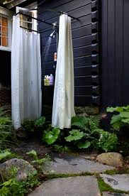 Outdoor Shower Curtains Several Steps To Keep In Mind When You Start Building Outdoor