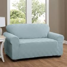 Teal Couch Slipcover Buy Blue Sofa Slipcover From Bed Bath U0026 Beyond